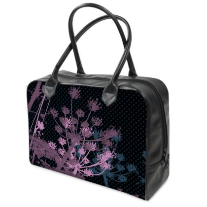Holdall (Small) - Black Florals