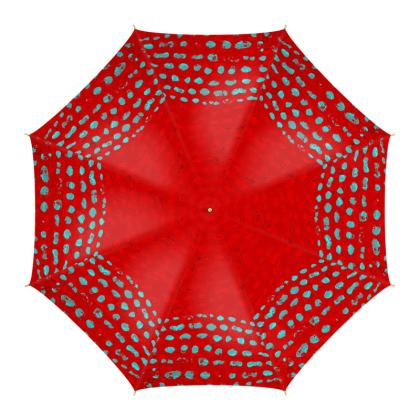 Textural Collection in red and turquoise Umbrella