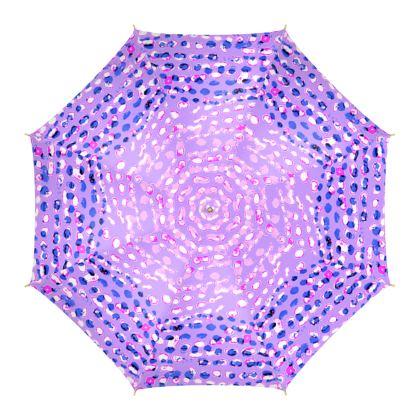 Textural Collection multicolored Umbrella in mauve and blue