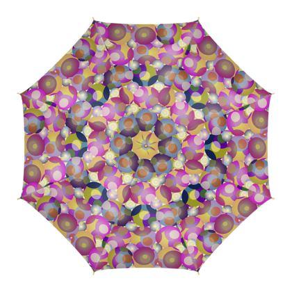 Moon Collection on cream Umbrella