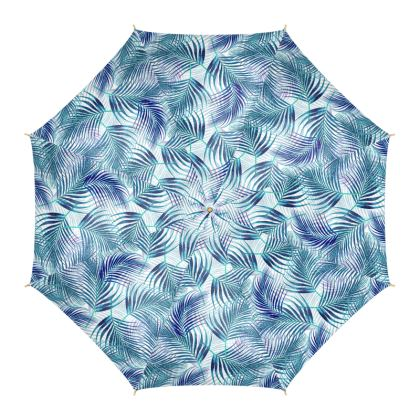Tropical Garden in Blue Umbrella