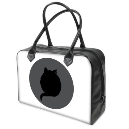 Holdall (Small) - Cat Logo on White