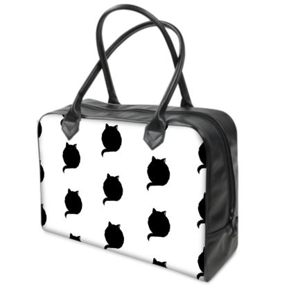 Holdall (Small) - White and Black CAT Logo