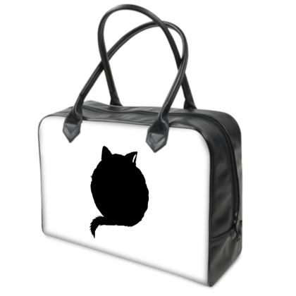 Holdall (Small) - Black, White and Red CAT Logo