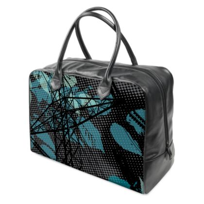 Holdall (Large) - Blue Florals with Bird