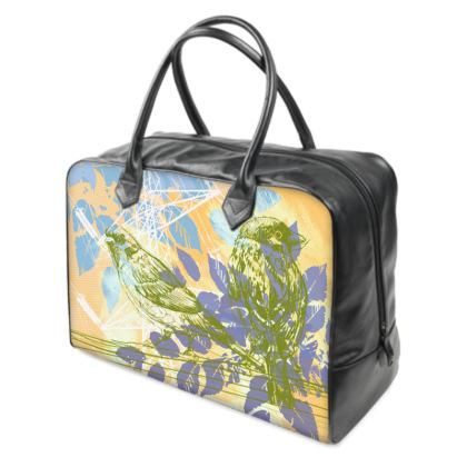 Holdall (Large) - Yellow Florals with Bird