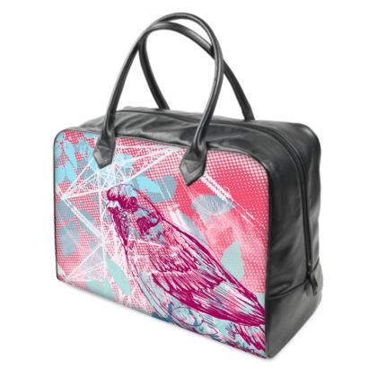 Holdall (Large) - Pink Florals with Bird