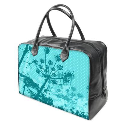 Holdall (Large) - Aqua Blue Florals