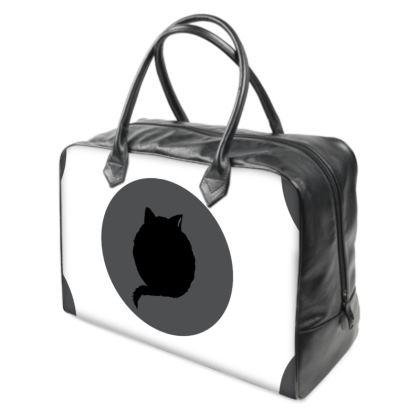 Holdall (Large) - CAT Logo on White and Black