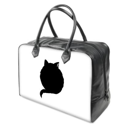 Holdall (Large) - Black, White and Red CAT Logo