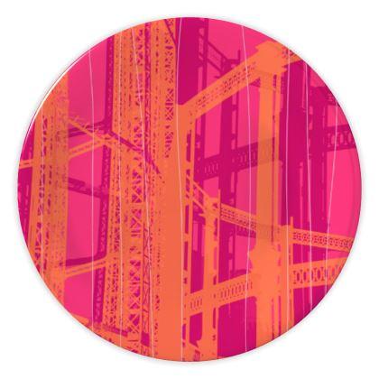 CHINA PLATES - Geometrical Gasholder PINK