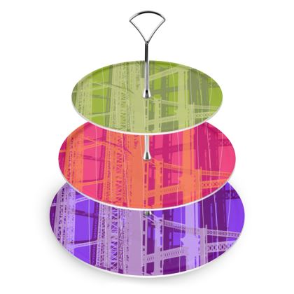 CAKE STAND - Varied Colours Warm