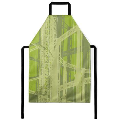 Apron - Geometrical Gasholder Green