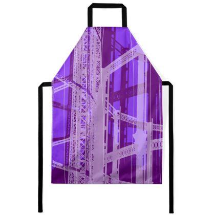 Apron - Geometrical Gasholder purple