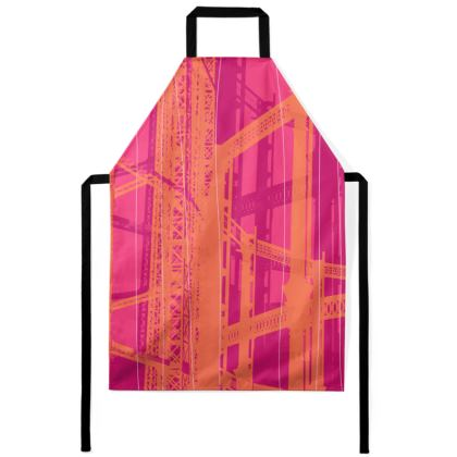 Apron - Geometrical Gasholder pink