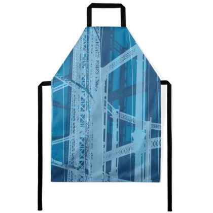 Apron - Geometrical Gasholder blue
