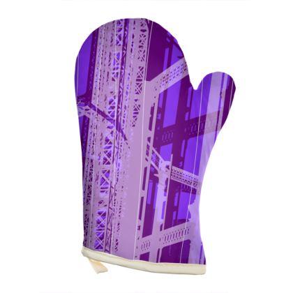 OVEN GLOVES - Gasometer Geometrical purple