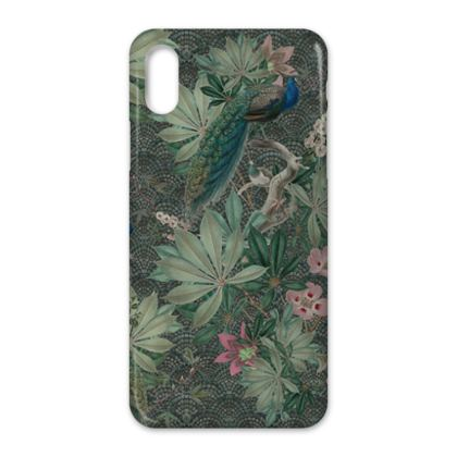 The peacok's botanical garden - Iphone case