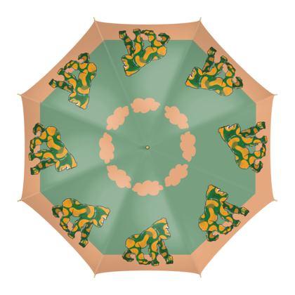 COMMIC Africa - Colourful umbrella featuring Bubble Gorilla