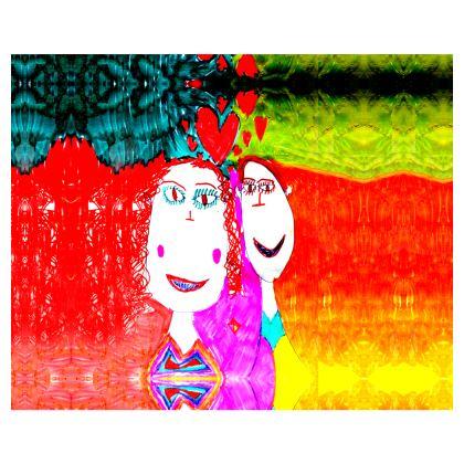 Pop Art Kids Love by Elisavet Kimono