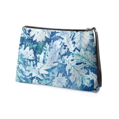 Forest Floor, Aquamarine - Clutch Bag