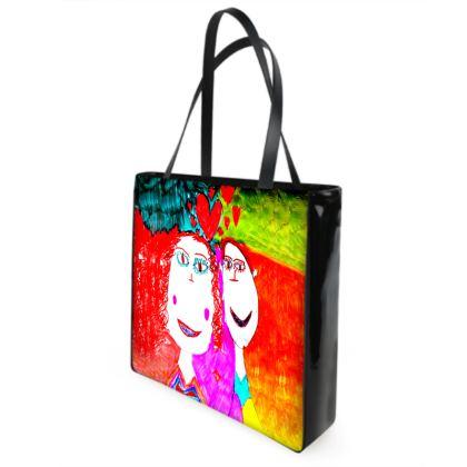 Pop Art Kids Love by Elisavet Shopper Bags