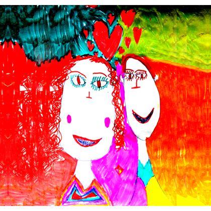Pop Art Kids Love by Elisavet Ornamental Bowl