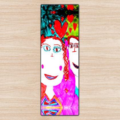 Pop Art Kids Love by Elisavet Yoga Mat