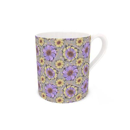 Bone China Mug - Lilac Anemones