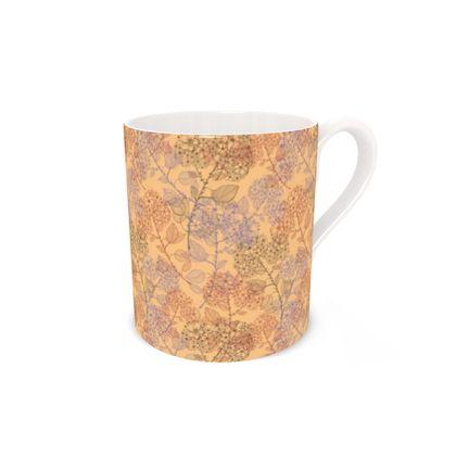 Bone China Mug- Orange Milflor