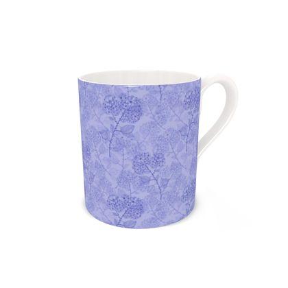 Bone China Mug - Blue Milflor