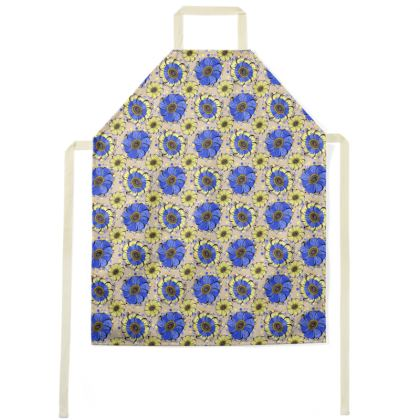 Apron - Blue Anemones