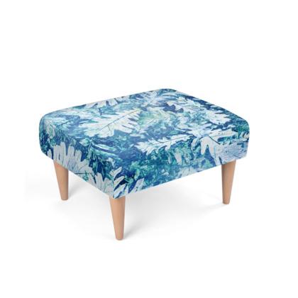 Forest Floor, Aquamarine - Footstool