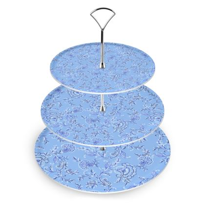Three Tiered Floral Cake Stand