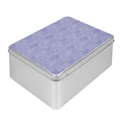 Biscuit Tin - Blue Milflor