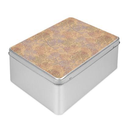 Biscuit Tin - Orange Milflor