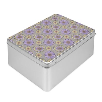 Biscuit Tin - Lilac Anemones
