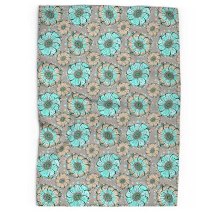 Tea Towel - Mint Anemones