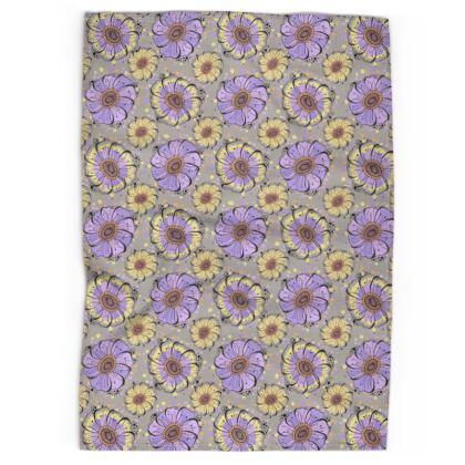 Tea Towel - Lilac Anemones