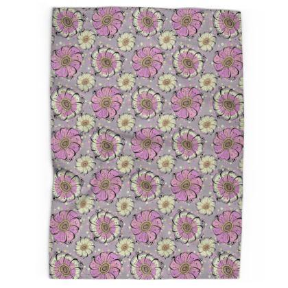 Tea Towel - Pink Anemones