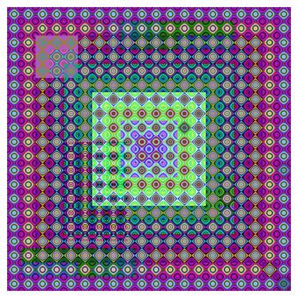 Cushion Glowing grids