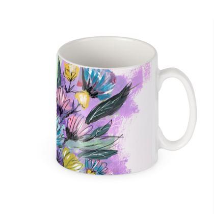Lilac Crysanthumum Mug