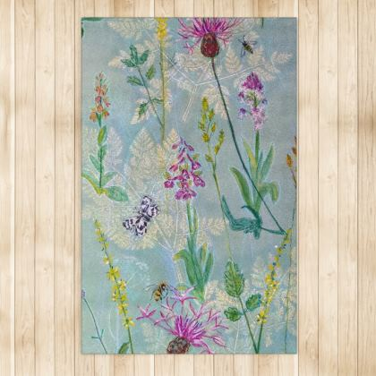 Rug inspired by early summer flower meadows