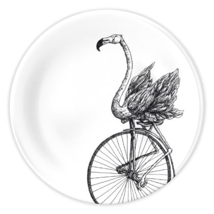 """Perfect Plate - Limited Edition Hand Illustrated """"Just Riding Along"""""""