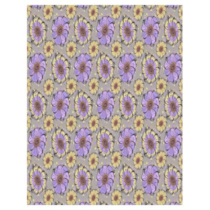 Large Tray - 43x33cm, Lilac Anemones