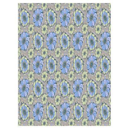 Small Tray - 27x20cm - Light Blue Anemones