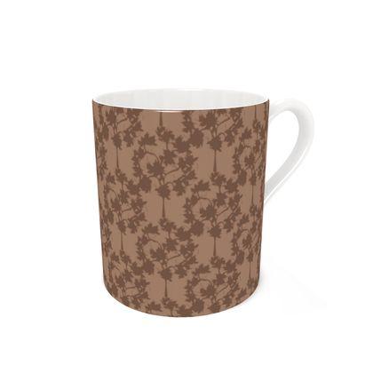 Autumnal Forest Pattern Coffee Mug