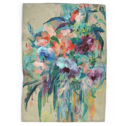 Brushstroke Bouquet Tea Towels