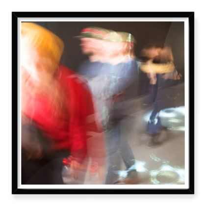 Framed Art Print In the Underpass