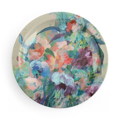 Brushstroke Bouquet Party Plates